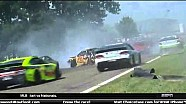 Violent crash sends car through Armco - 2014 Watkins Glen