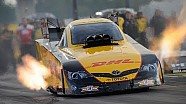 Del Worsham powers past the field Friday in Indy NHRA