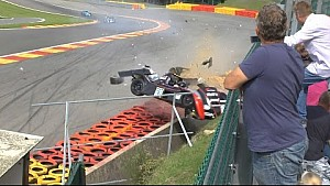 Radical big crash Spa 06 sep 2014