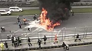Horrible Crash | FIA GT | Lamborghini Gallardo FIRE