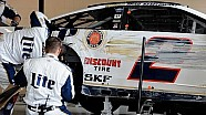 Flat tire sends Keselowski into the wall