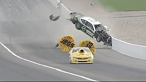 Deric Kramer spectacular Pro Stock crash at NHRA Vegas