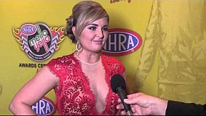 Erica Enders-Stevens interviewed on the red carpet Mello Yello Awards