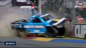 Stadium Supertrucks Adelaide 2015 Qualifying Nathan Pretty crashes