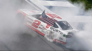 Keselowski steals the show on final lap