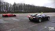DRAG RACE: LaFerrari vs Bugatti Veyron - Vmax Stealth