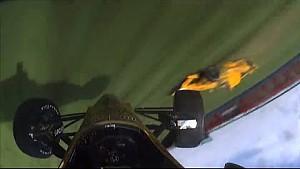 Briscoe flips in last-lap crash