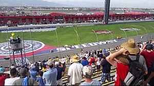 Spectator's view of Ryan Briscoe's flip at Fontana