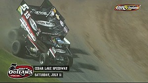 Highlights: Sprint Cars Cedar Lake Speedway July 11th, 2015