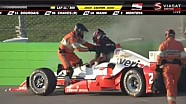 Juan Pablo Montoya crashes at Iowa