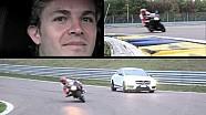 Nico Rosberg sfida Rebecca Bianchi a Modena sulla Mercedes CLA 45 AMG