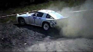 Mazda RX7 rally car with pure sound