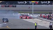 Jeb Burton crashes during practice