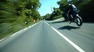 Guy Martin chases Michael Dunlop at the Isle of Man