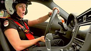 Sabine Schmitz on the Porsche 991 GT3 - Nürburgring