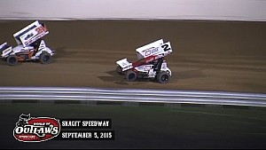 Highlights: World of Outlaws Sprint Cars Skagit Speedway September 5th, 2015