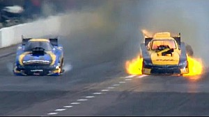 Del Worsham wins in St. Louis in a FIREY Finish #NHRA