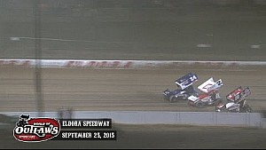 Highlights: World of Outlaws Sprint Cars Eldora Speedway September 25th, 2015