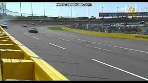 Kasey Kahne plows the wall at Charlotte