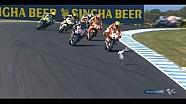 Andrea Iannone rijdt zeemeeuw aan tijdens MotoGP Australië