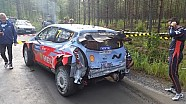 Neuville crash on Rally Finland 2015 Shakedown