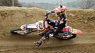 Marc Marquez 93 races a Honda CRF 250R at the 2015 Sagre Motocross Festival