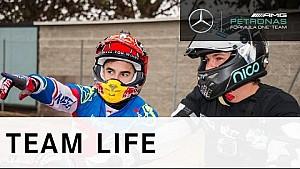 F1 + MotoGP = Motocross! - Nico Rosberg & Marc Márquez