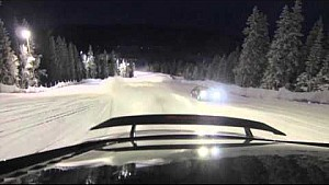 Audi R8 V10 ski slope