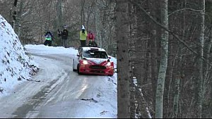 Robert Kubica crashes during Day 1 - Rallye Monte Carlo 2016