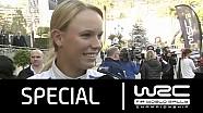 WRC Rally Sweden 2016: Co-Drive Caroline Wozniacki