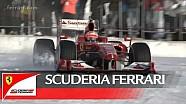 Exibição na neve da Ferrari em Livigno
