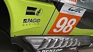 L'Aston Martin V8 Vantage GTE in time laps