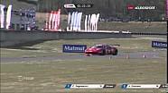 GT Tour 2016 at Nogaro: Ferrari #17 drives on the track against traffic