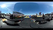 360-Degree look at an NHRA Top Fuel Dragster launch at 300+mph