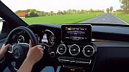 Mercedes C450 AMG Onboard Acceleration Test Drive V6 Sound Beschleunigung