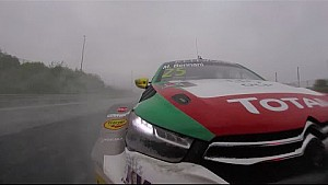 Wet racing action, highlights Hungary Tom Coronel FIA WTCC 2016