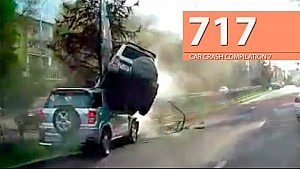 Car Crash Compilation # 717 - April 2016 (English Subtitles)
