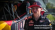 Max Verstappen visits the Red Bull Racing factory