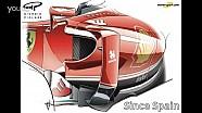 Giorgio Piola - 法拉利SF16-H 侧箱变换