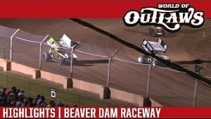 World of Outlaws Craftsman Sprint Cars Beaver Dam Raceway June 25th, 2016 | HIGHLIGHTS
