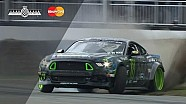Gittin Jr Smashes His Mustang's Bumper Apart in Monster Hillclimb Run!