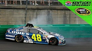 Jimmie Johnson spins early at Kentucky