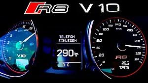 AUDI R8 V10 Acceleration 0-295 Onboard Autobahn V10 Sound ECC RENT Mieten Mietwagen BerlinTomek