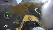 GP de Belgique - Le crash de Kevin Magnussen