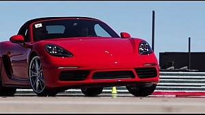 The new 718 Boxster: Tested on the track in Montreal, Canada.