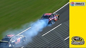 Hamlin's engine blows late at Charlotte