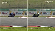 MotoGP车手15号弯过弯对比