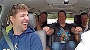 NASCAR-Fahrer im Uber-Taxi