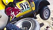 Reifenwechsel bei der Rallye Dakar