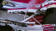 Heavy damage after Kasey Kahne gets loose. Bristol 2011